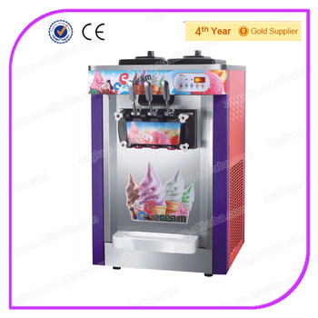 Counter Top Ice Cream Machine For Sale : ... Counter Top Digital Three Flavors Soft Ice Cream Machine For Sale