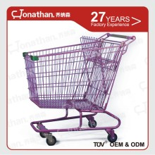 210L Portable folding supermarket shopping cart trolley from china