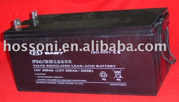 dry type deep cycle battery 12/200AH