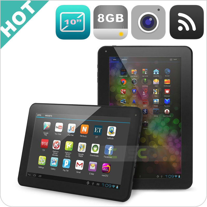 Cheapest Simple Design 10 inchs manufacture Buletooth / wifi /1g /8g tech pad 10 inch android tablet