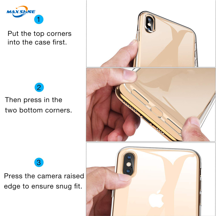 Maxshine Brand Clear Soft TPU Case  , Flexible Soft TPU Case For iPhone XS Max