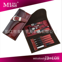Luxury Red Manicure Set,lady professional pedicure tools for personal care