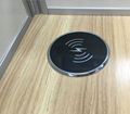 New design Furniture and Table round Qi wireless charger for smart Mobile phone