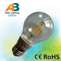 230v e27 screw lamp bease 4w dimmable filament led bulb