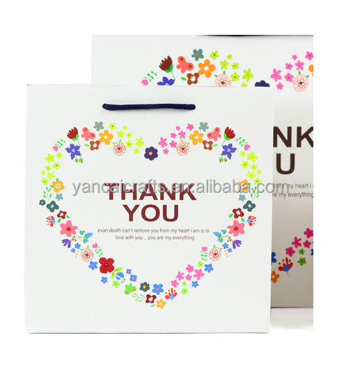 luxury lamination gift paper bags colorful flower cake packing bag