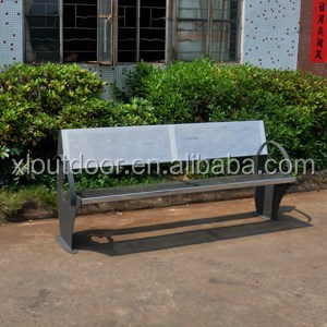 Outdoor furniture stainless steel garden bench