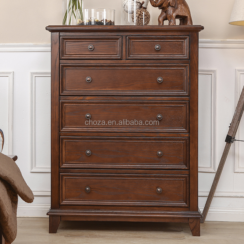 F40684A-1 Chinese wholesale distressed furniture antique chest of drawer for living room