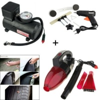 Car Dent Remover Kit + Car Vacuum Cleaner + Car Tyre Repair Kit + Air a Compressor