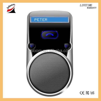 Solar power Multipoint Bluetooth Handsfree Car Kit Speakerphone with LCD display