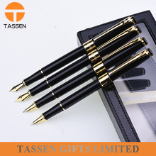 top quality boss pen metal fountain pen gold black business pen