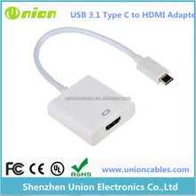 "New USB 3.1 Type C to HDMI 1080P HDTV Adapter Cable For Macbook 12"" PC Laptop"