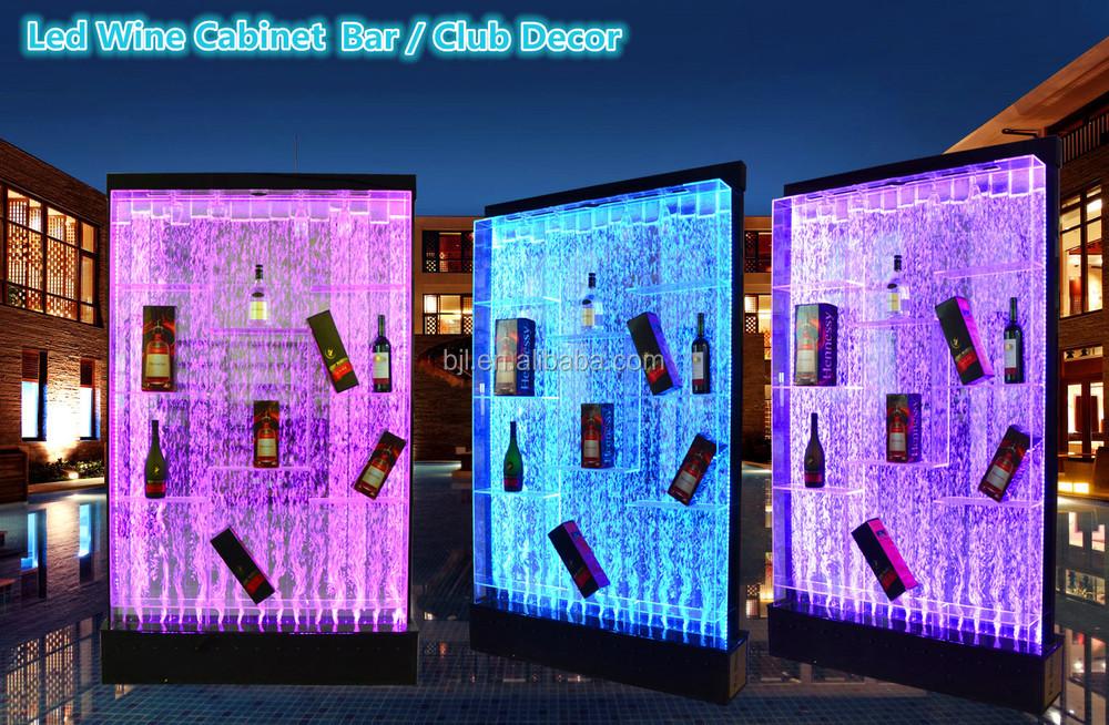 Nightclub Lounge Furniture 3 Tier Led Illuminated Acrylic