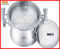 MSF 3pcs stainless steel couscous pot with SS handle