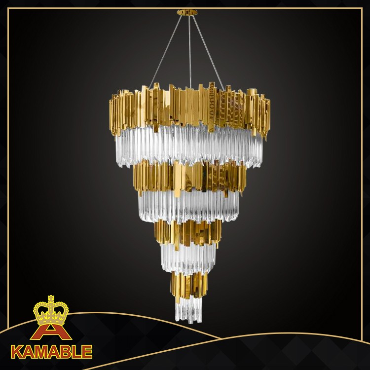 Luxury hanging decoration hotel crystal modern chandelier