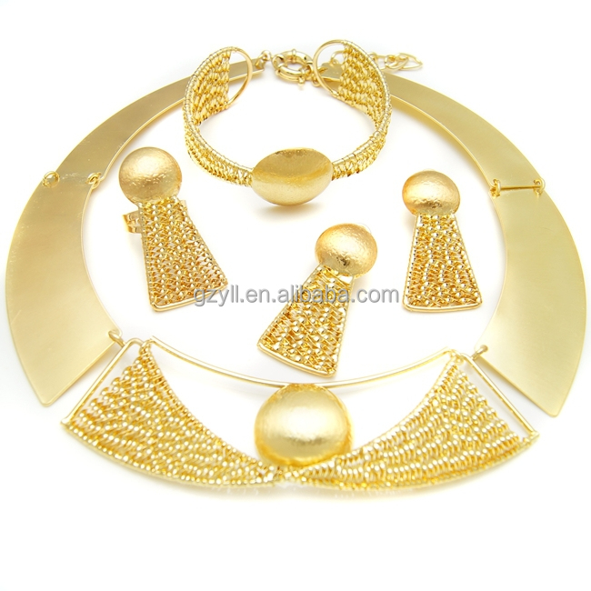 Indian Bridal Gold Jewellery Sets Shiny Wedding Best Costume