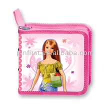 New PP Plastic Square Lovely Girl Holds 24 CD DVD Case