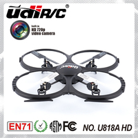 U818A HD 2.4G 6-axis gyro drone rc low voltage alarm drone quadcopter hd camera