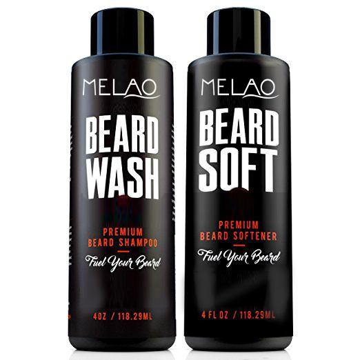 Beard Wash by Melao Brand All-Natural beard shampoo - Cleans and Conditioner