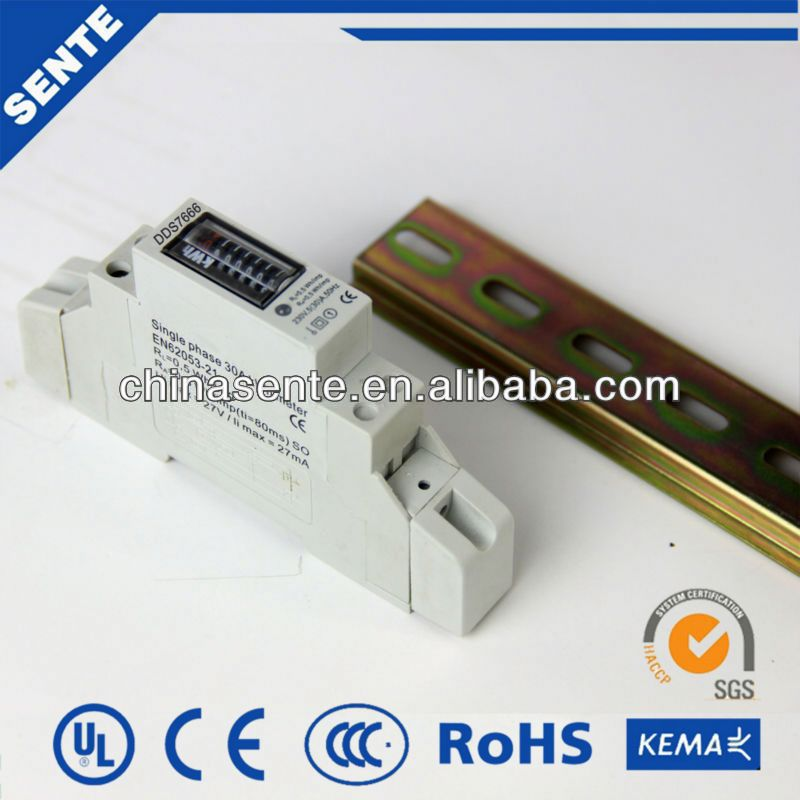 DDS7666 single-phase din rail electric meter analog