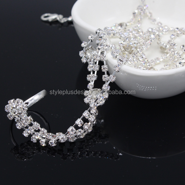 FC880 bridal beach crystal anklet barefoot shoes even the toe ring anklet