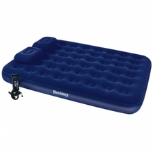 "Bestway 67374 80"" x 60"" x 8.5"" Queen size inflatable airbed with hand pump and two pillows"
