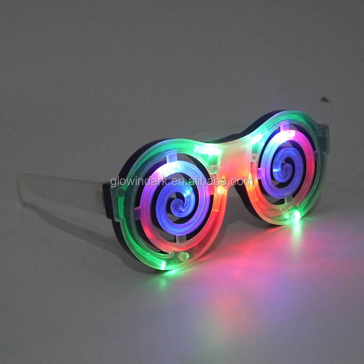 Unique Christmas Decoration LED blinking mosquito coil Sunglasses cheap price for promotion