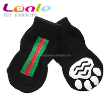 2016 lanle solid flat knitting cotton puppy cat doggie socks ,Non-slip pet shoes manufacturer in China