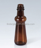 200ml Embossed Amber Glass Bottle olive oil glass bottle wholesale