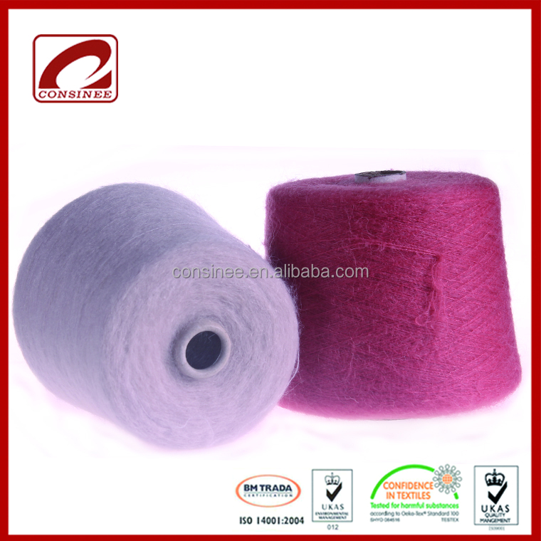 Top Line newly promote fluffy mohair wool yarn contain 22% kid mohair