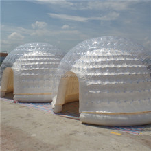 Air tighted clear inflatable dome tent for advertising