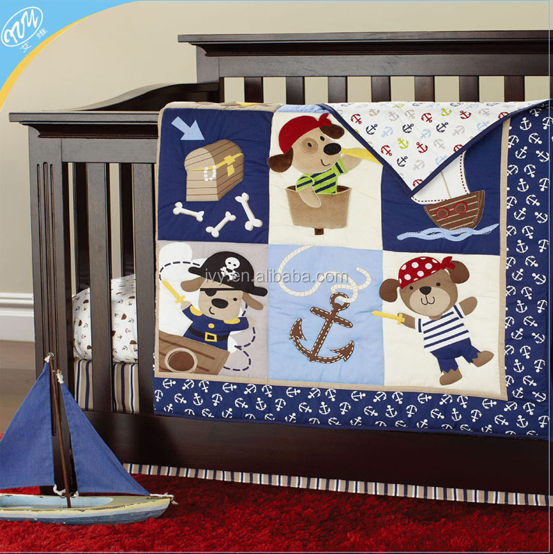 wholesale baby crib bedding set 100% cotton