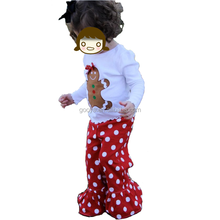 gingerbread appliqued shirt and ruffle pants set girls christmas boutique clothes holiday boutique outfits for kids