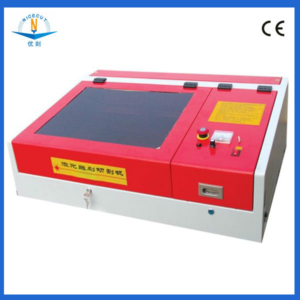 NC-S4040 wood crafts polymer rubber laser stamp making machine