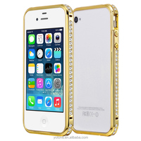 New diamond shining bumper cell phone back case cover for iphone 4 4s case
