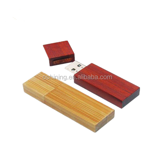 Hot selling rectangle shape wooden usb flash drive (USB-WD319)