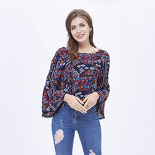 Latest Long Sleeve Round Neck Backless Design Women Hot Sexy Shirt Blouse