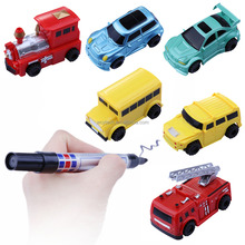 2017 newest children toy Magic Pen Inductive Tank Truck Car Draw Toys