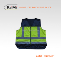 HOT SALE blue reflective safety vest with pocket work safety clothes