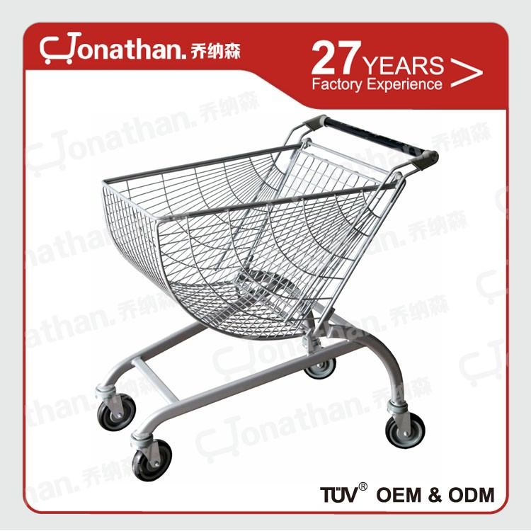 80L big sale 60 kg weight capacity grocery shopping cart for elderly