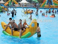 inflatable banana boat, water park sport game for sale