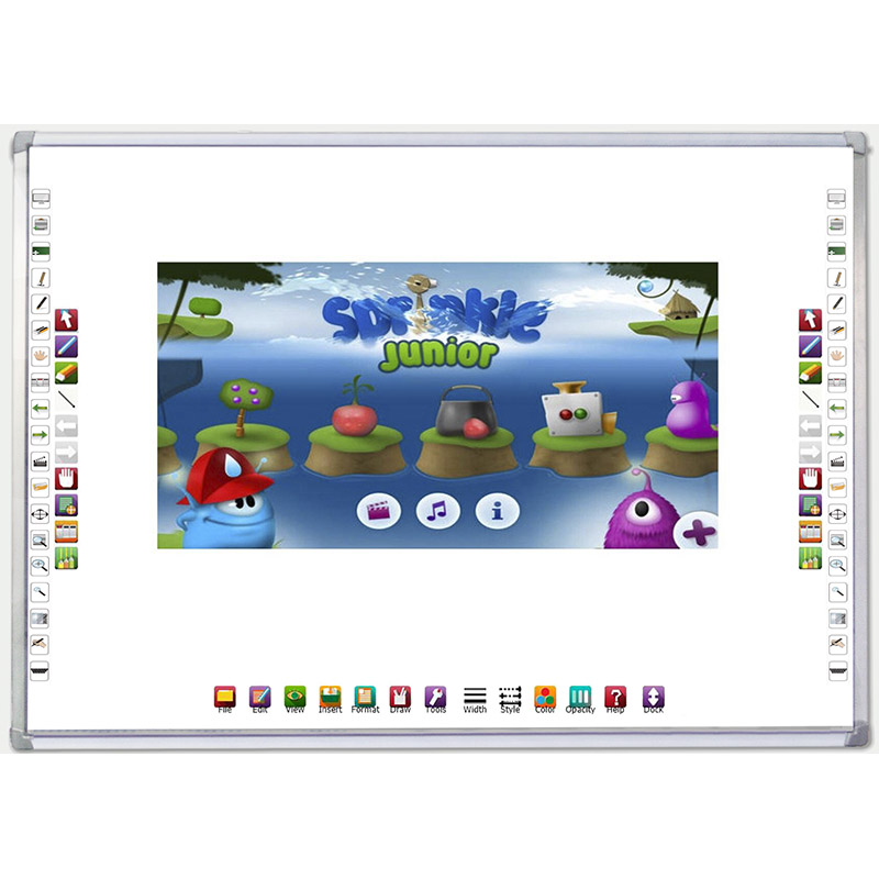 Easy to install 82 inch 4:3 interactive whiteboard with 1.5 metres lines