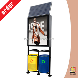 Top quality!solar powered led light box with waste can