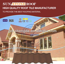 insulated blue color tiles concrete building roof