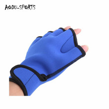 Fitness neoprene duck waterproof swimming gloves colorful
