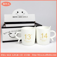 enamel mug color box gift package elegan bone china fine porcelain couple coffee mug with unique custom print decal kids cup