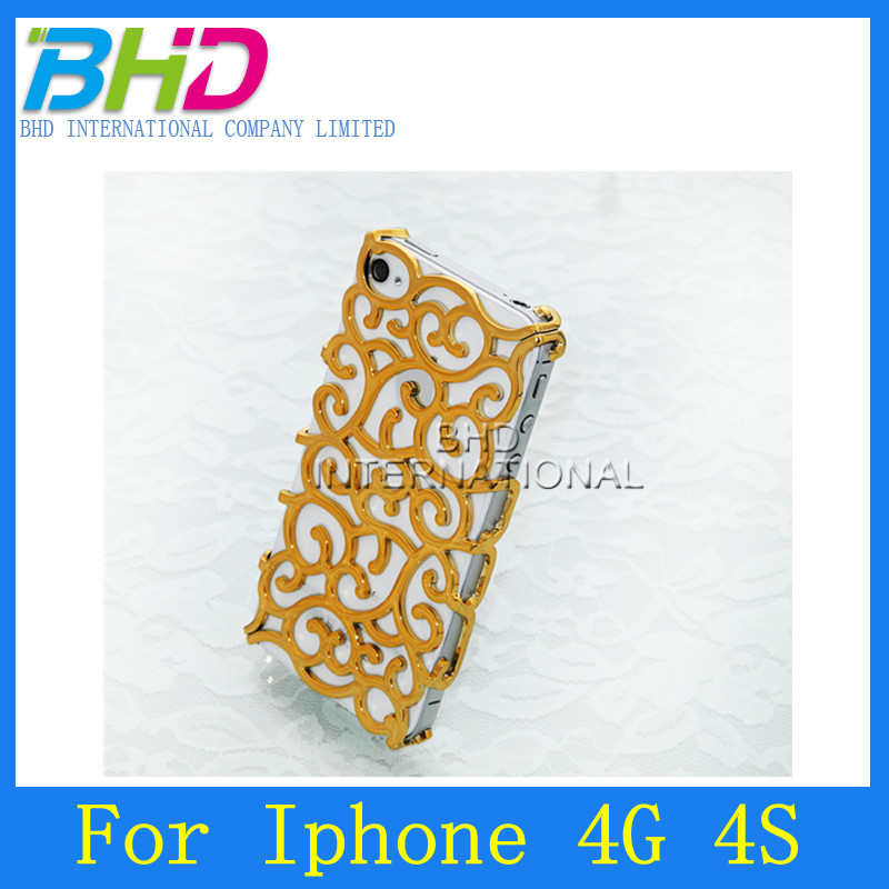 Electroplate Palace Flower Case for iPhone 4 4S
