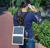 New product high efficiency 6W USB output foldable folding solar panel/portable solar panel/paper solar charger