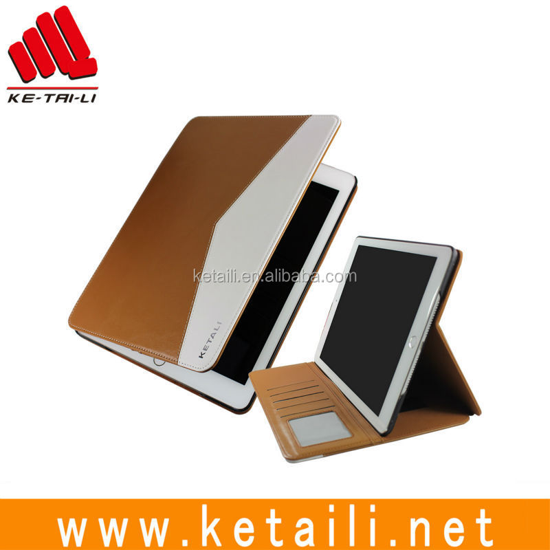Heavy Duty Leather Shock Proof Stand Cover Case for Ipad Air 2 New Products