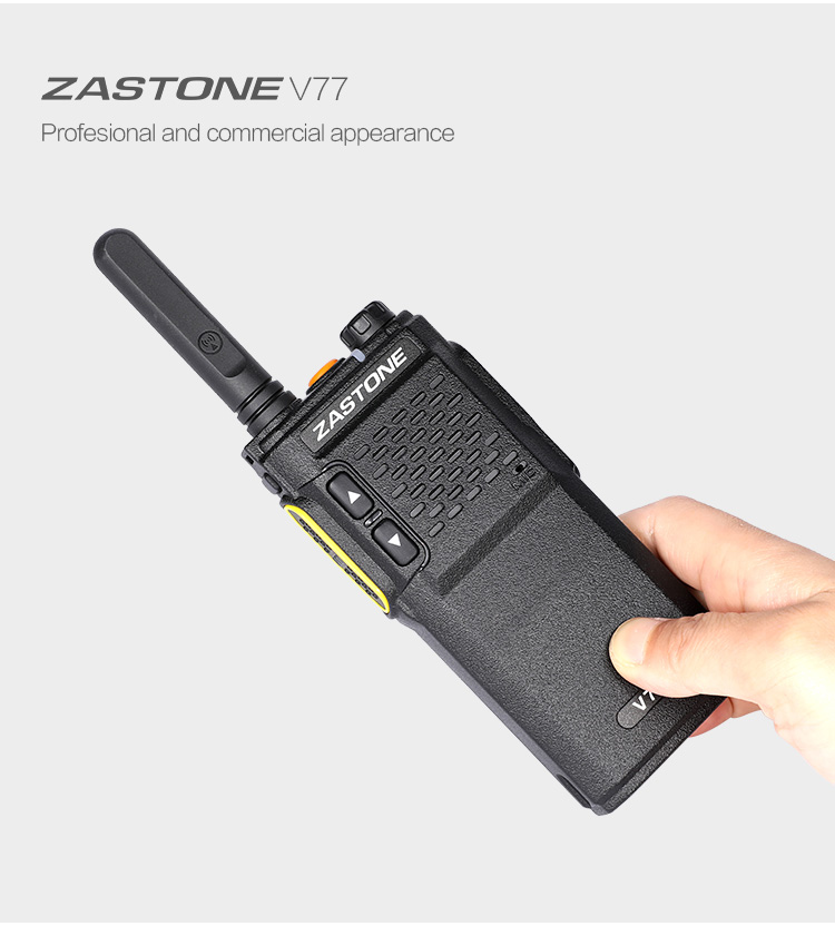 2018 ZASTONE V77 portable uhf 3w 16ch USB charger high low power mini 2 way handheld radio walkie talkie