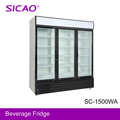 2017 Wholesale 1500Litre three glass door soft drinks fridge display fridge from china